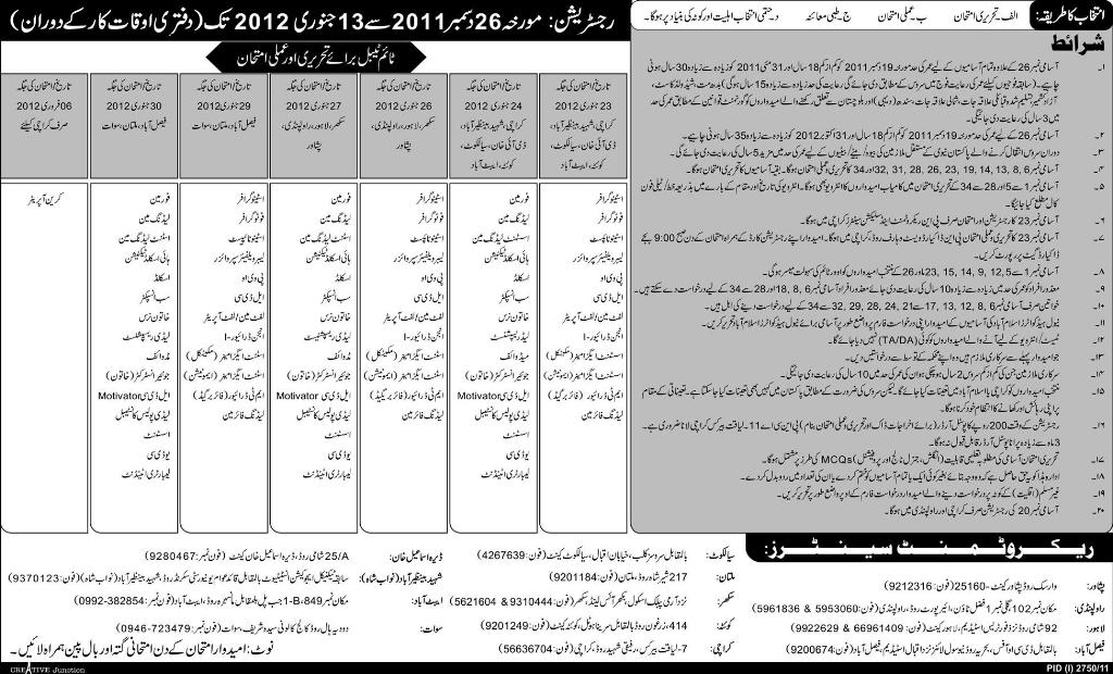 Join Pakistan Navy as Civil Servant Add 2